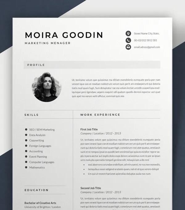 Resume Template   Moira
