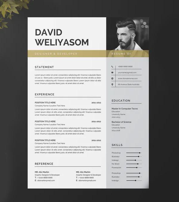 Stunning Resume Template