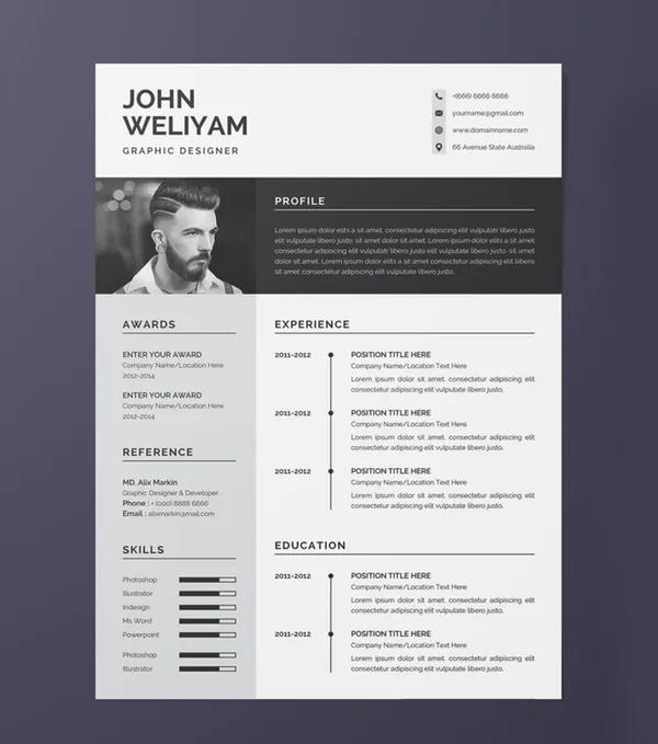 Modern Resume Template Design