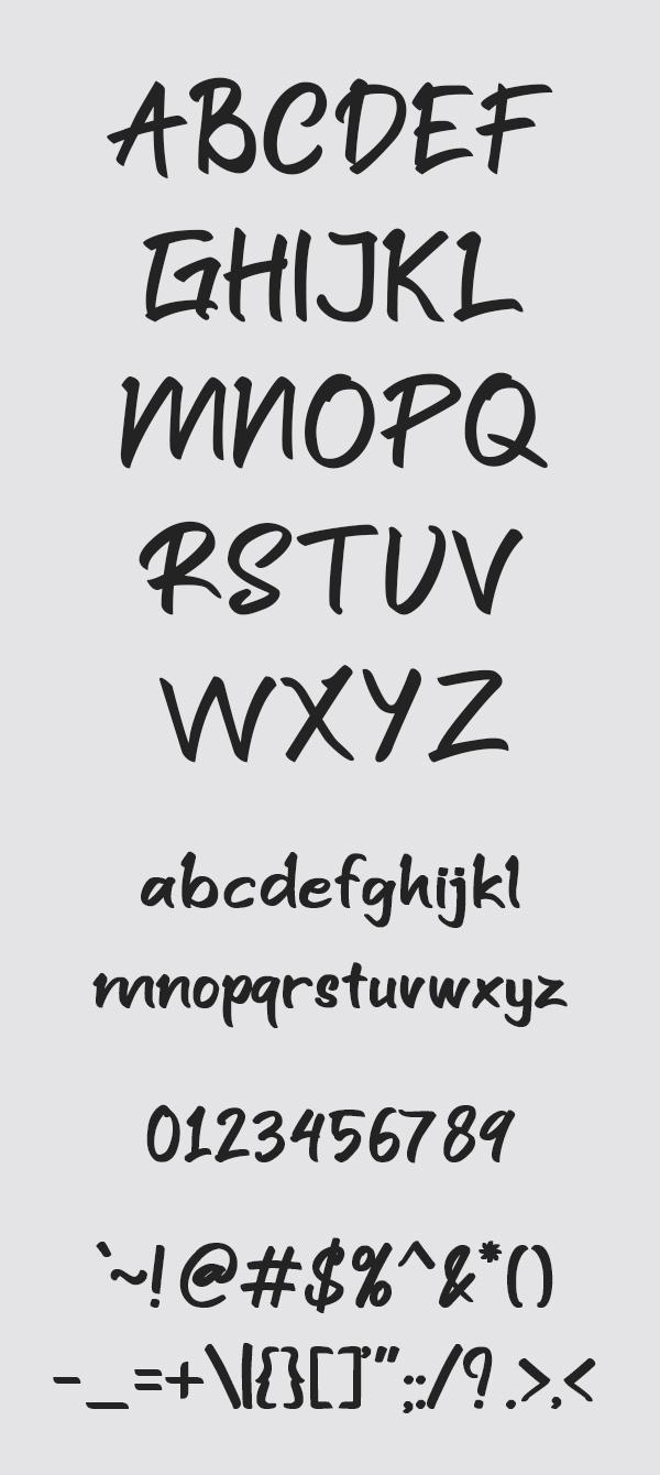 Santuy Free Font Letters