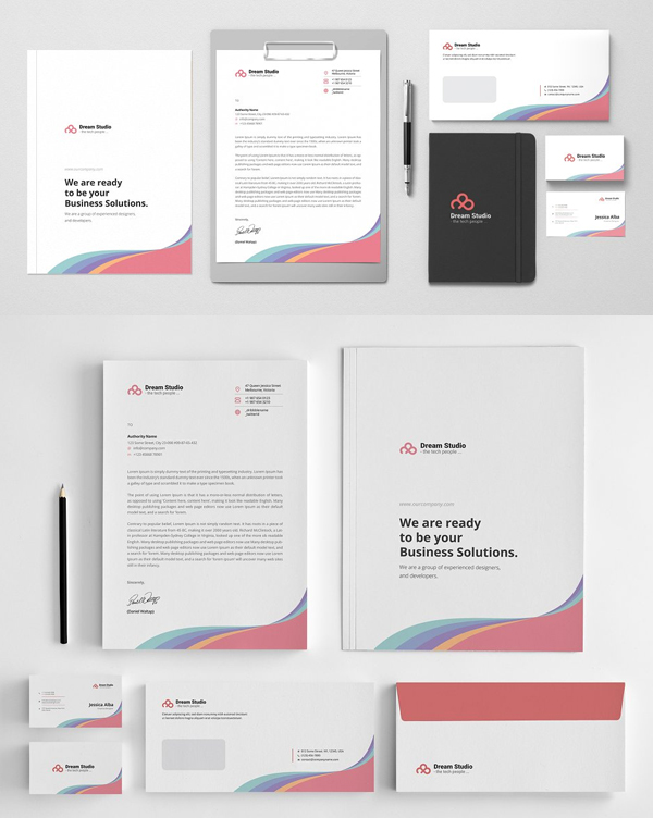 Simple Corporate Stationery Set