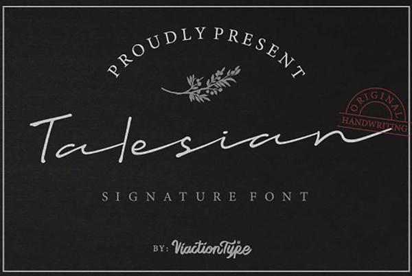 Talesian Signature Bold Free Font