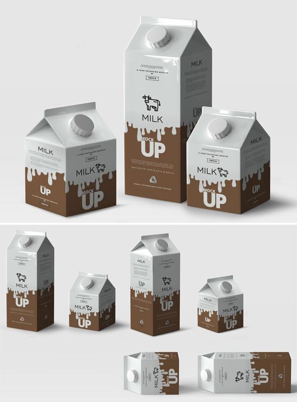 Milk / Fruit Juice Carton Mockup