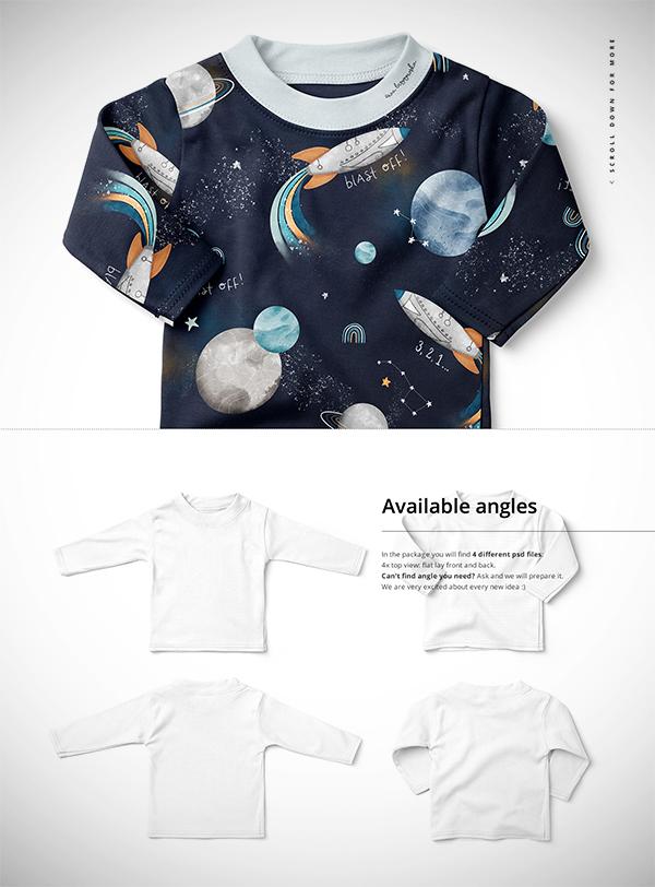 Baby Toddler Long Sleeve Mockup Set