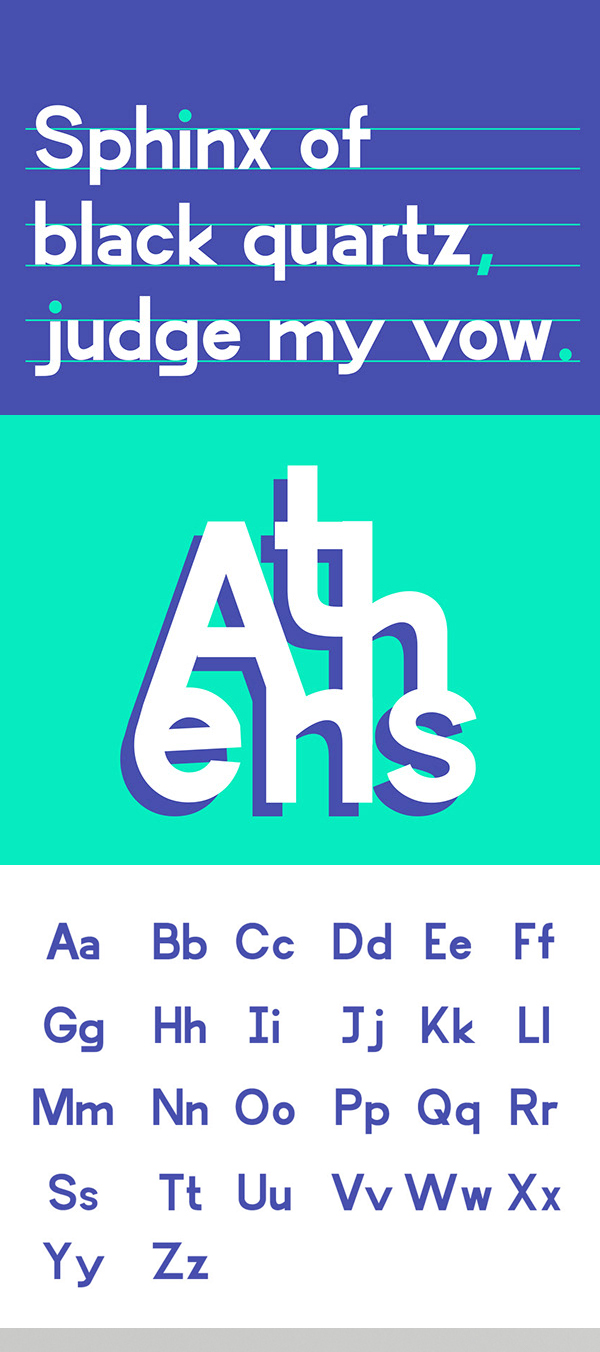 Attika Variable Free Font Letters