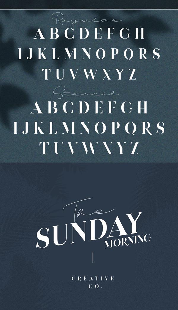 Devitos Serif Free Font Letters