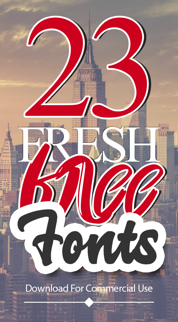 23 New Fonts Free for Graphic Designers