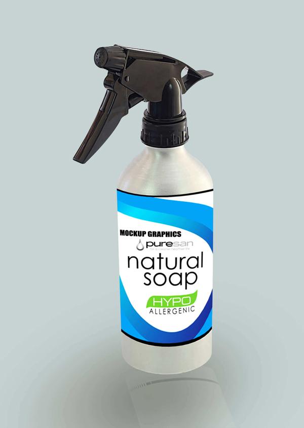 Free Trigger Spray Bottle Mockup