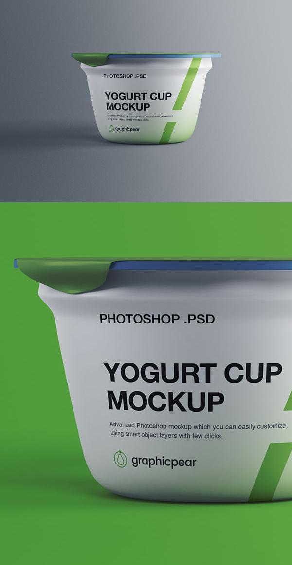 Free Yogurt Plastic Cup Mockup