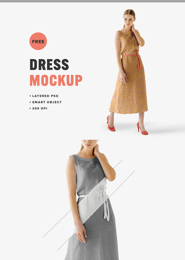 Free Summer Dress Mockup
