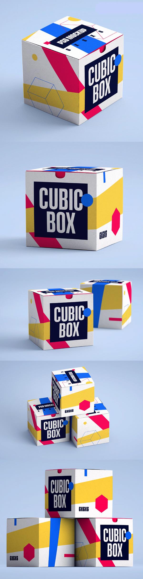Free Cubic Box Mockups
