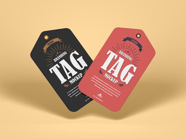 Free Branding Tag Mockup