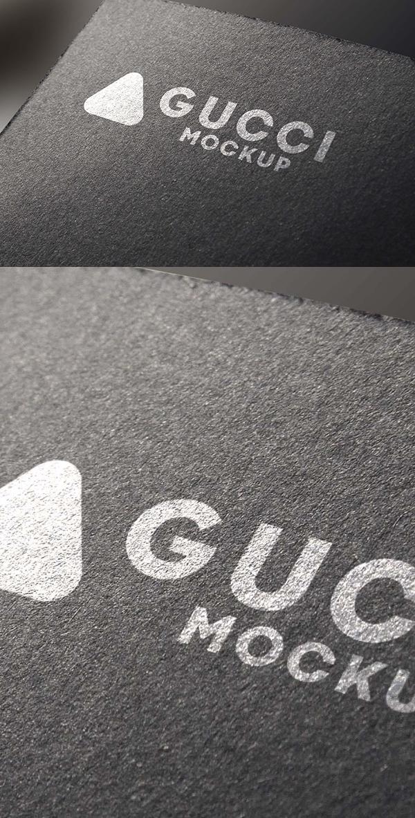 Free Black Texture Logo Mockup