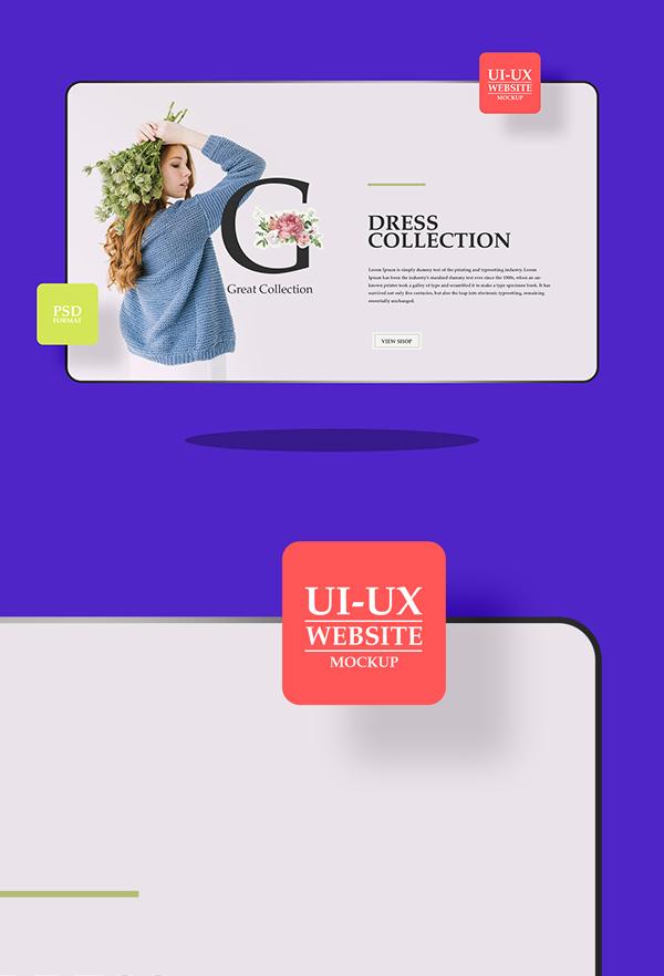 Free Website Mockup For UI-UX Designers