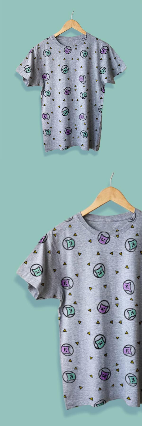 Free Simple Hanging T-Shirt Mockup