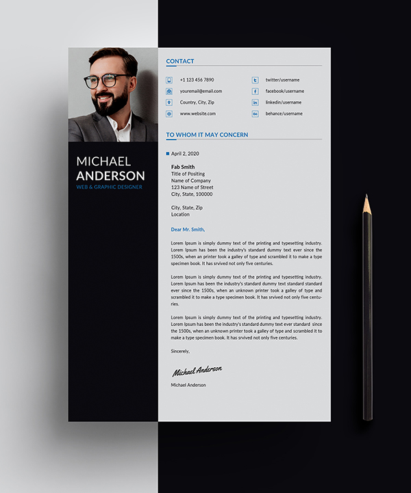 Free Resume + Cover Letter Templates (PSD) - 2