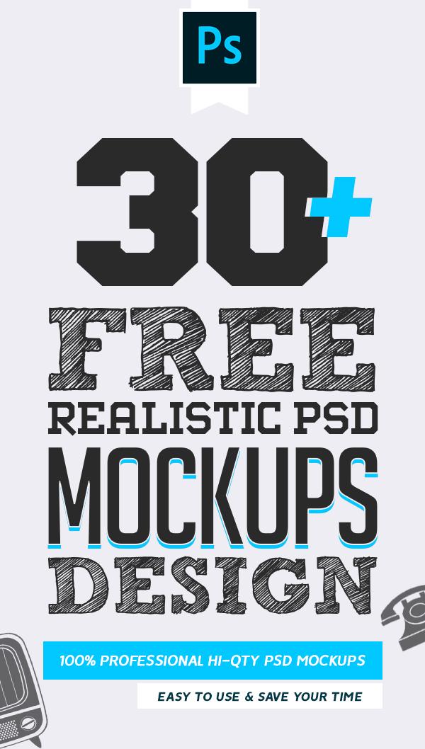 Free PSD Mockups: 30+ Fresh MockUps Templates