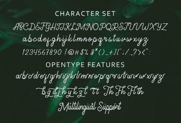 Gathenbury Free Font Letters