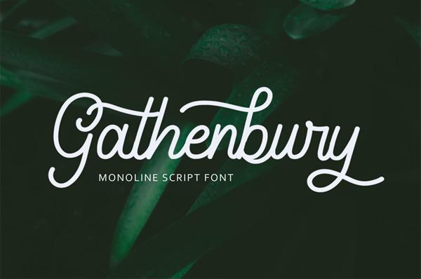 Gathenbury Free Font