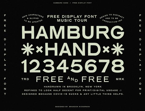 Hamburg Hand Free Font