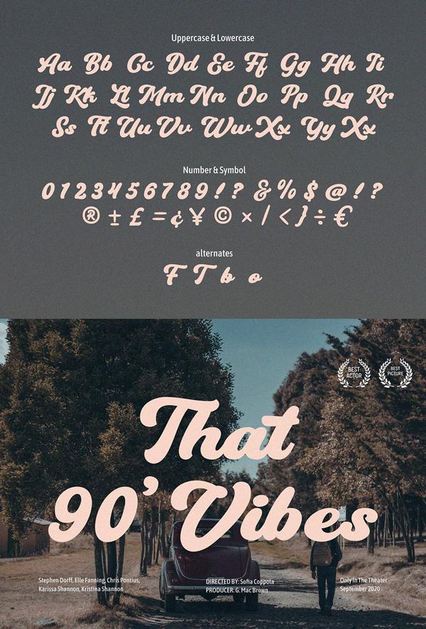 Hundrea Script Free Font Letters