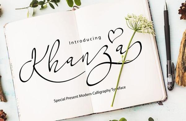 Khanza Calligraphy  Free Font