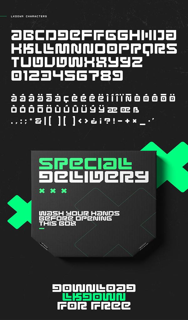 Lkdown Free Font Letters