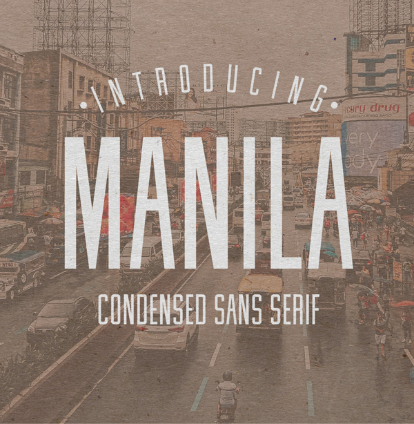 Manila Condensed Free Font