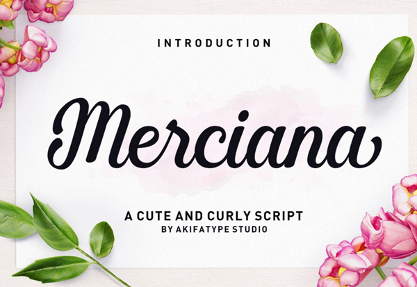 Merciana Script Free Font