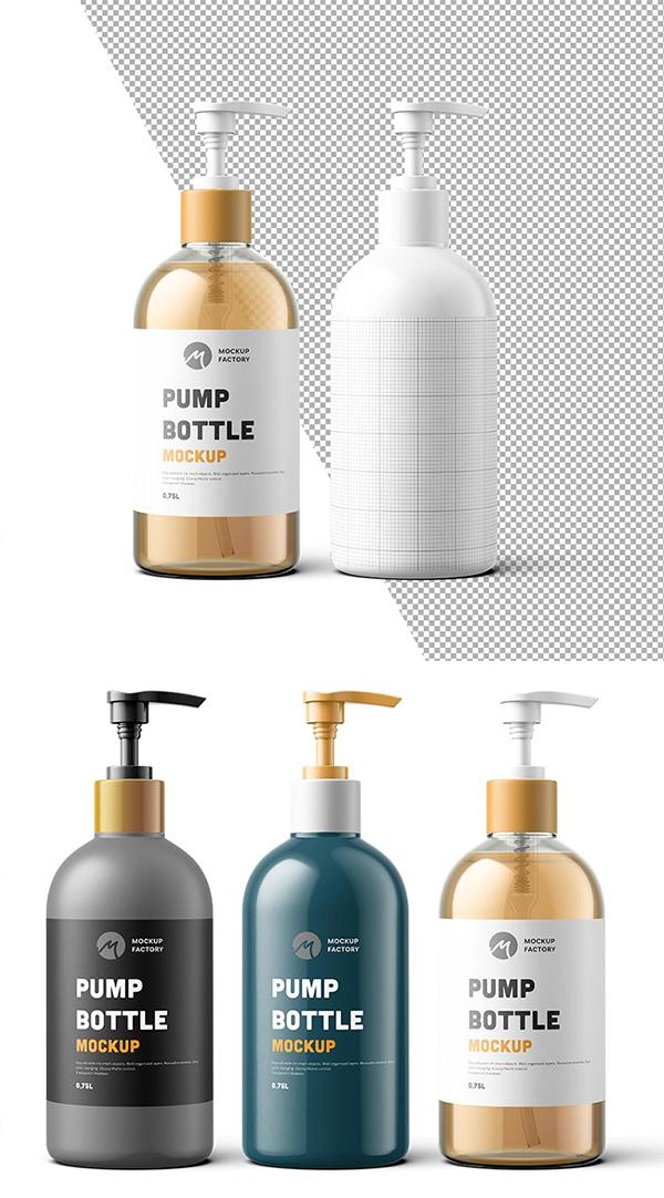 Pump Bottle Mockup