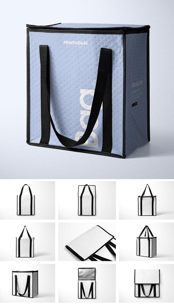 Insulated Cooler Bag Mockup Set