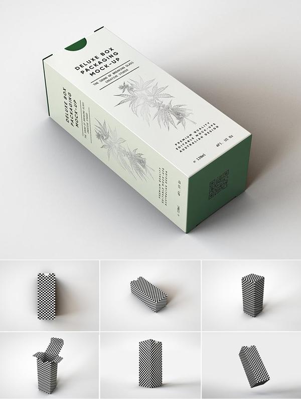 Cosmetics   Dropper Box Mockup