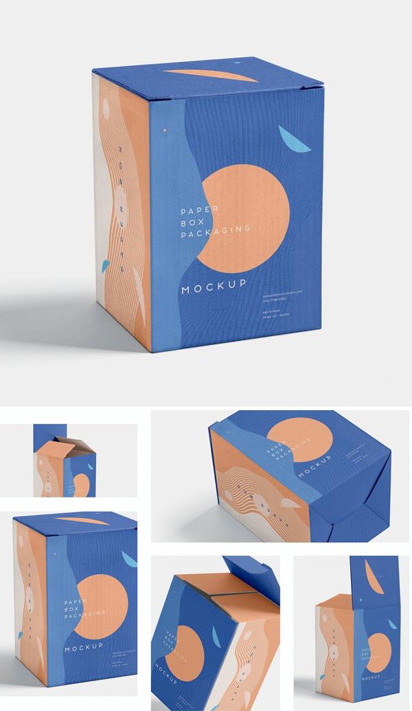 Creative Paper Box Packaging Mockups