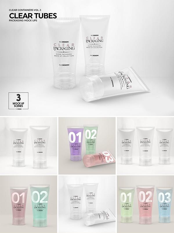Clear Cosmetic Tube Mockups