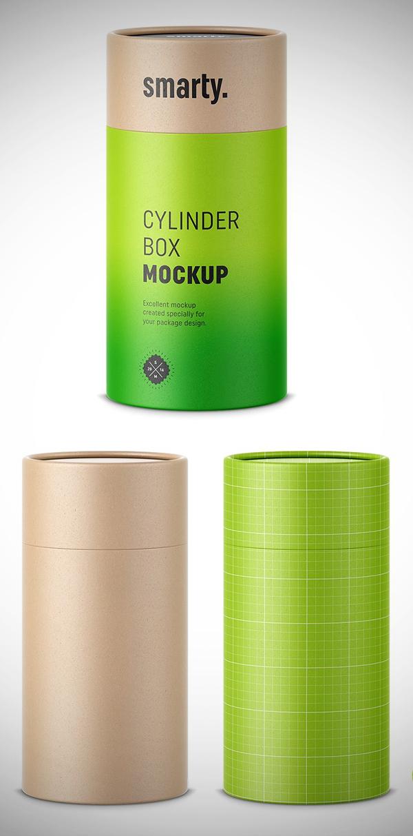 Cardbox Cylinder Box Mockup