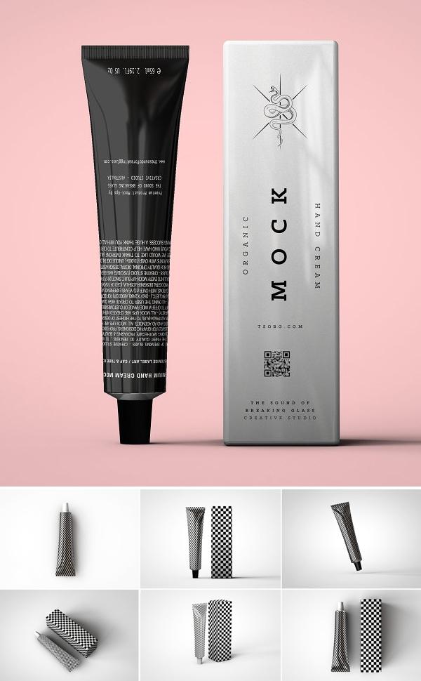 Laminated Cosmetics Tube Mockup