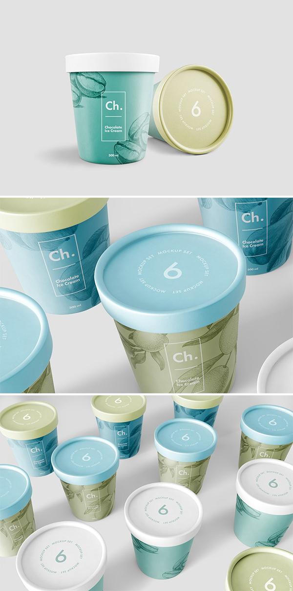 Ice Cream Jar Mockup