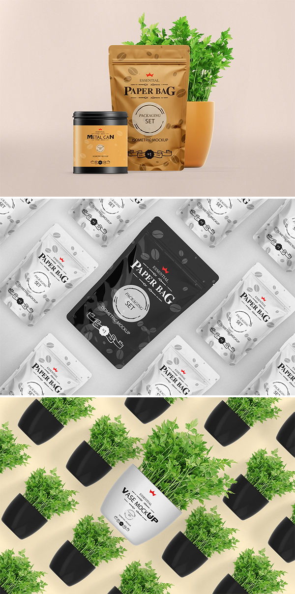 Awesome Paper Pouch Mockup