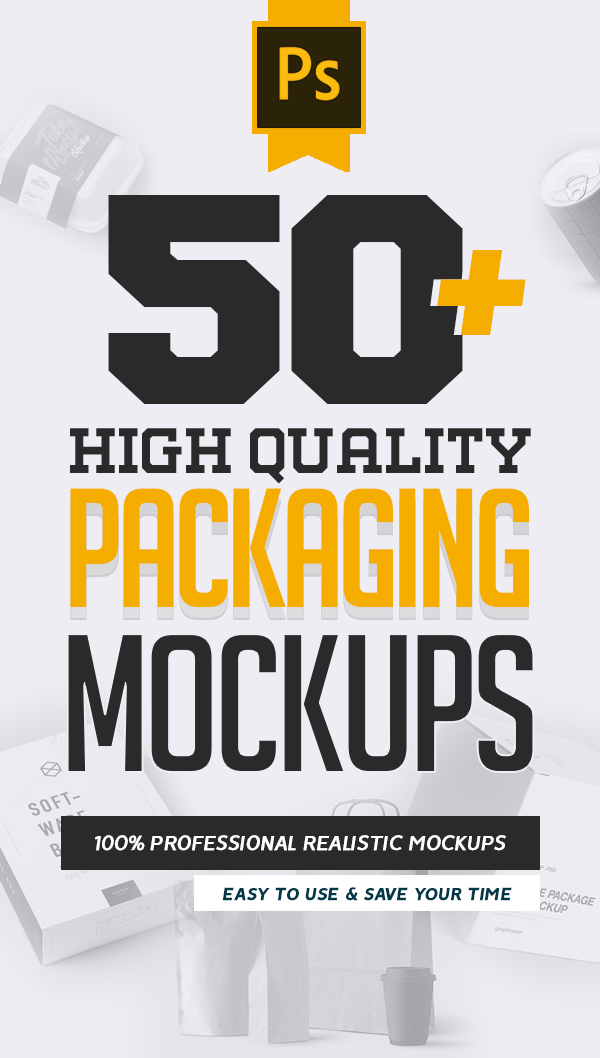 50+ Packaging Mockups: High Quality Product Packaging Mockup