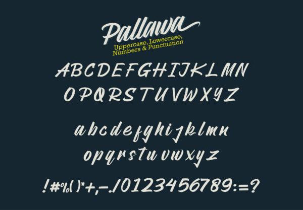 Pallawa Free Font Letters