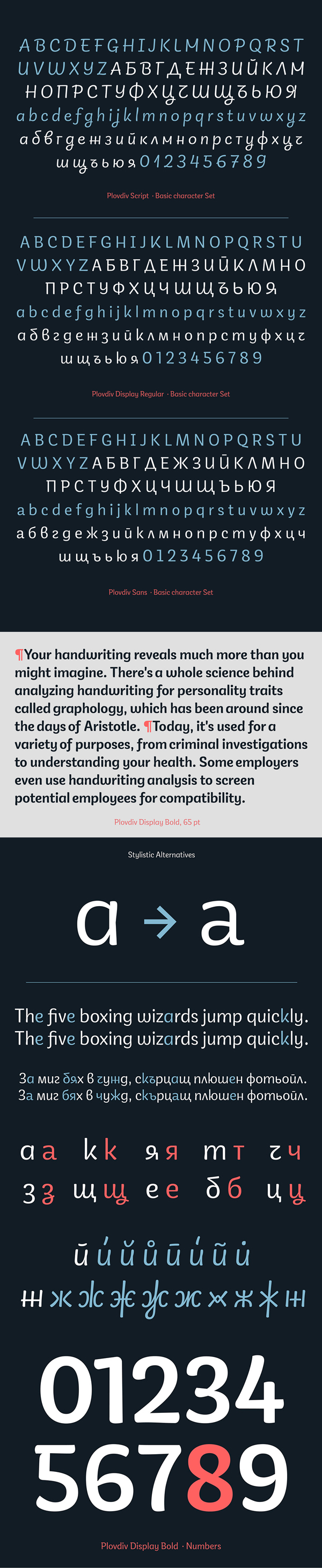 PlovdivTypeface Free Font Letters