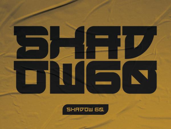 SHADOW 60 Free Font