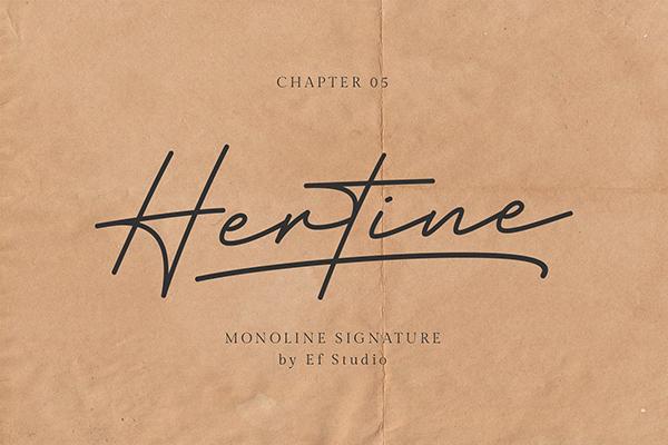 Hertine - Monoline Signature