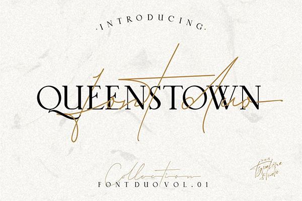 Queenstown 2 Font Signature & serif