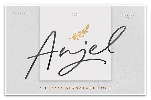 Anjel Classy Signature Font