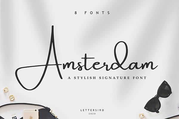 Amsterdam 8 Elegant Fonts