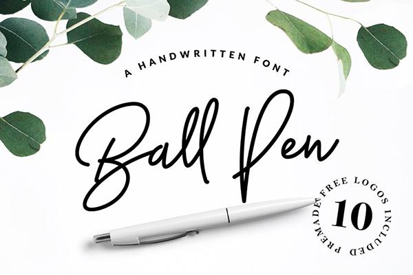 Ball Pen Handwritten Font