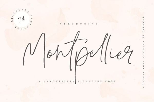 Montpellier Signature Font