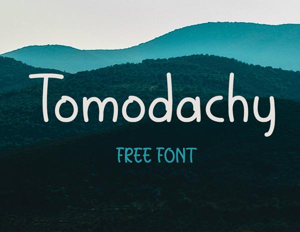 Tomodachy Free Font