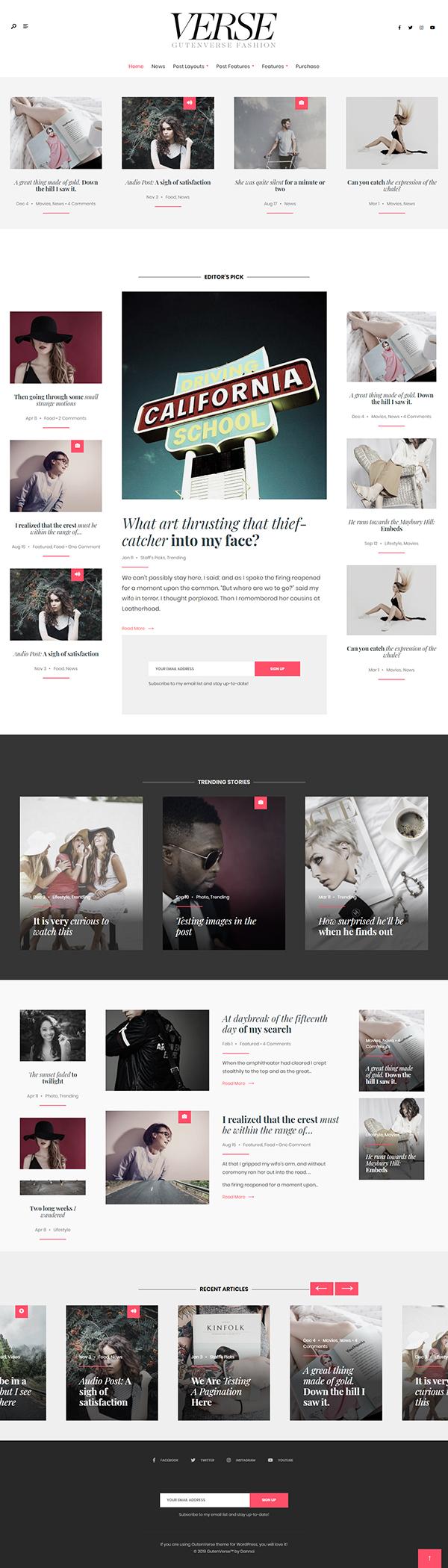 GutenVerse - Magazine and Blog Theme